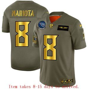 Tennessee Titans #8 Marcus Mariota Jersey Olive